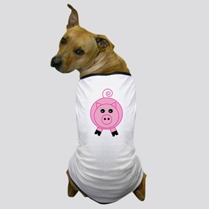 Cute Pink Pig Dog T-Shirt