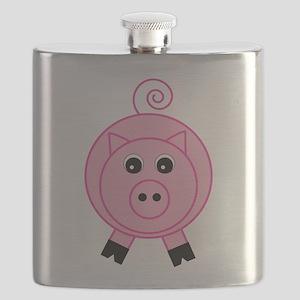 Cute Pink Pig Flask