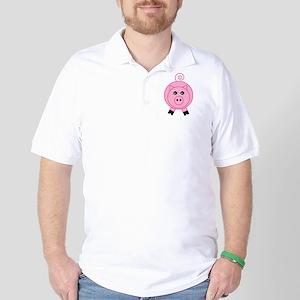 Cute Pink Pig Golf Shirt