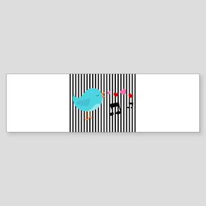 Singing Blue Bird Bumper Sticker