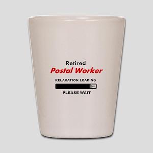 LOADING RET POSTAL WORKER Shot Glass
