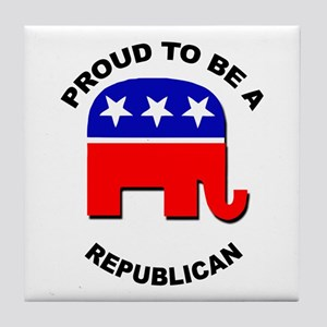 Proud to be a Republican Tile Coaster