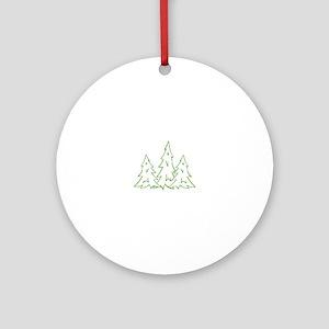 Three Pine Trees Ornament (Round)