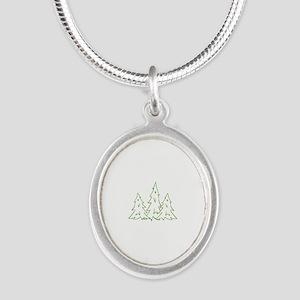 Three Pine Trees Necklaces