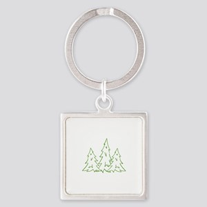 Three Pine Trees Keychains