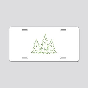 Three Pine Trees Aluminum License Plate