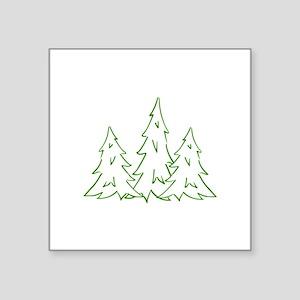Three Pine Trees Sticker