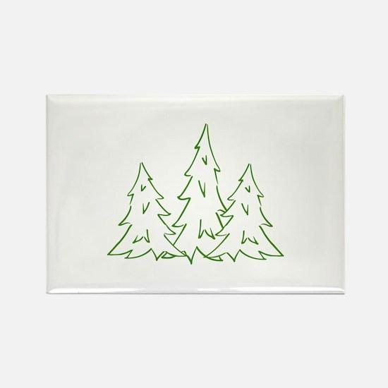 Three Pine Trees Magnets