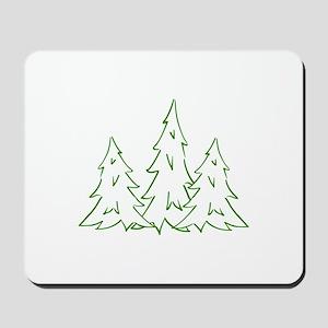 Three Pine Trees Mousepad