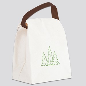 Three Pine Trees Canvas Lunch Bag
