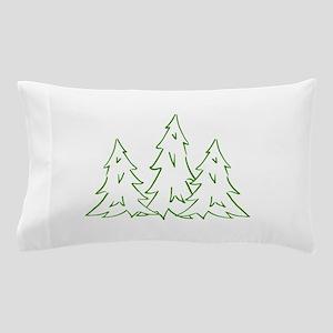 Three Pine Trees Pillow Case