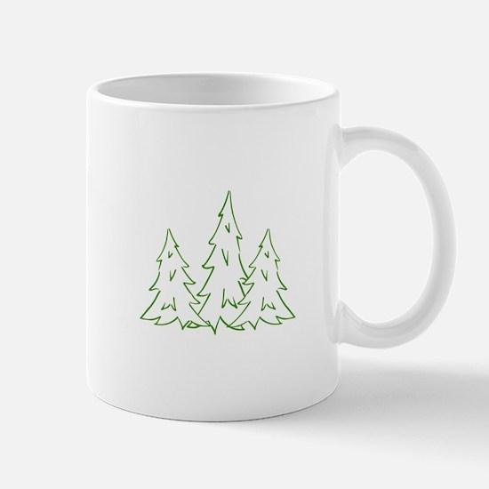 Three Pine Trees Mugs