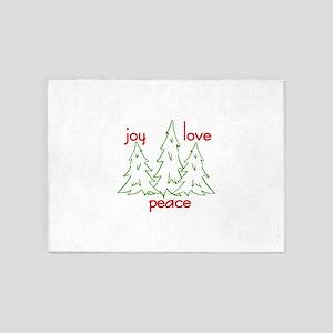 Joy Love Peace 5'x7'Area Rug