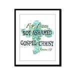 Romans 1:15 Framed Panel Print