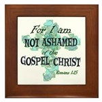 Romans 1:15 Framed Tile