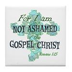 Romans 1:15 Tile Coaster