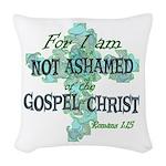 Romans 1:15 Woven Throw Pillow