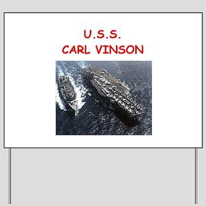 uss carl vinson Yard Sign