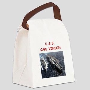 uss carl vinson Canvas Lunch Bag