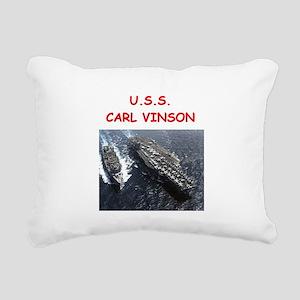 uss carl vinson Rectangular Canvas Pillow