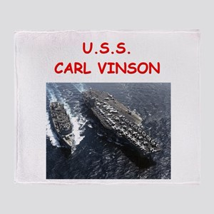 uss carl vinson Throw Blanket