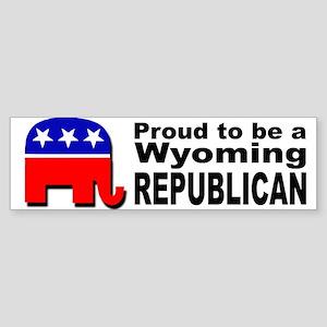Proud Wyoming Republican Sticker (Bumper)