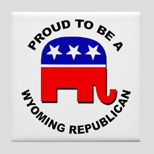 Proud Wyoming Republican Tile Coaster