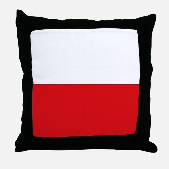 Polish flag Throw Pillow