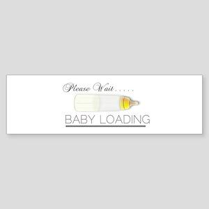 Please Wait..Baby Loading Sticker (Bumper)