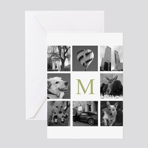 Monogram and Photoblock Greeting Cards