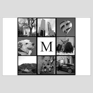 Monogrammed Photo Block Posters