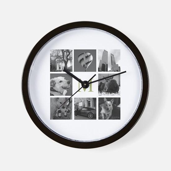 Your Photos Here - Photo Block Wall Clock