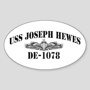 USS JOSEPH HEWES Sticker (Oval)