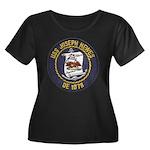 USS JOSE Women's Plus Size Scoop Neck Dark T-Shirt