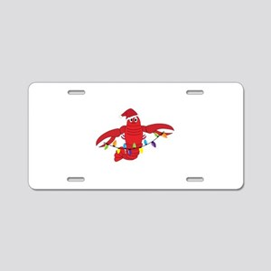Sandy Claws Aluminum License Plate