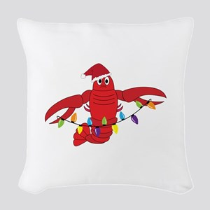 Sandy Claws Woven Throw Pillow