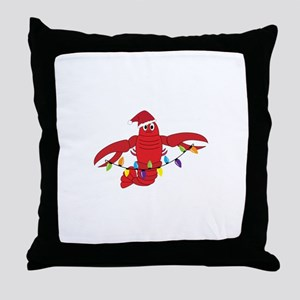 Sandy Claws Throw Pillow