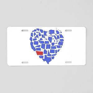 Montana Heart Aluminum License Plate