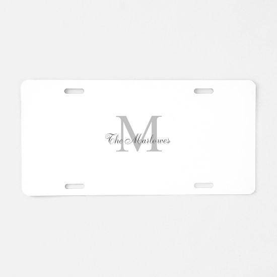 Monogrammed Duvet Cover Aluminum License Plate