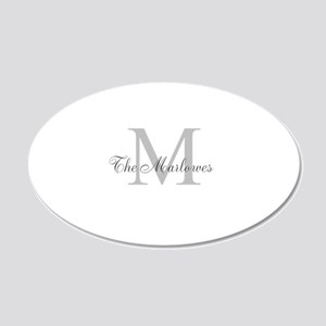 Monogrammed Duvet Cover Wall Decal