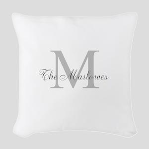 Monogrammed Duvet Cover Woven Throw Pillow