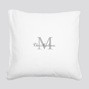 Monogrammed Duvet Cover Square Canvas Pillow