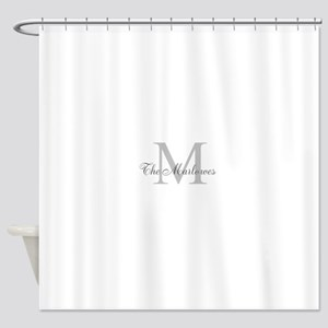 Monogrammed Duvet Cover Shower Curtain