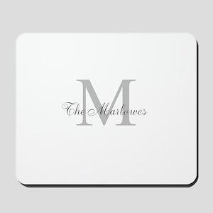 Monogrammed Duvet Cover Mousepad