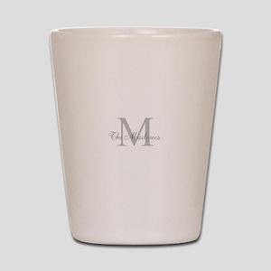 Monogrammed Duvet Cover Shot Glass