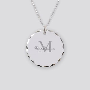 Monogrammed Duvet Cover Necklace