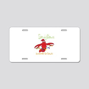 Sandy Claws is comin to town Aluminum License Plat