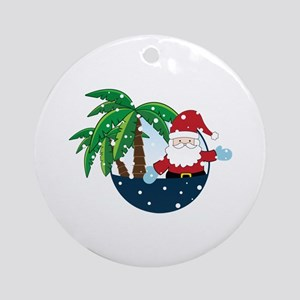 Christmas In Paradise Ornament (Round)