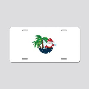 Christmas In Paradise Aluminum License Plate