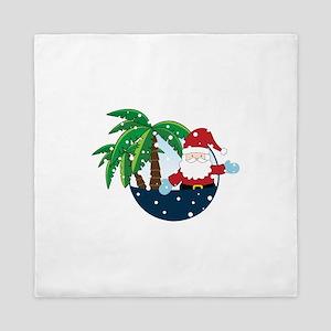 Christmas In Paradise Queen Duvet
